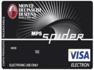 MPS Spider: le condizioni, i costi e le offerte della carta prepagata di Monte dei Paschi